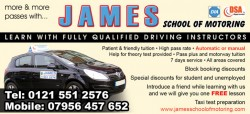 james school of motoring