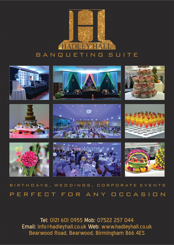 Hadley Hall Banqueting Suite Msj Asian Directory