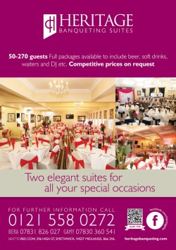 Heritage banqueting suite