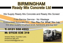 birmingham ready mix concrete